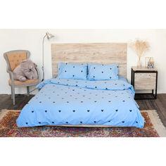 Акция на Комплект постельного белья Coolki Love's голубой 175x 220 от Allo UA