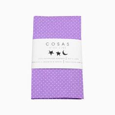Акция на Детская простынь на резинке Cosas Фиолетовый горох 15 60х120 см от Podushka