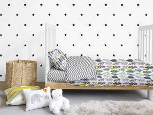 Акция на Комплект детского постельного белья Cosas Перья серые 11 Детский комплект от Podushka