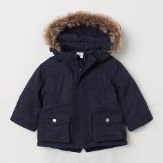 Акция на Куртка H&M 0734918-0 74 см Темно-синяя (2000001669907) от Rozetka