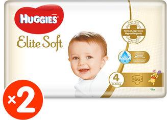 Акция на Подгузники Huggies Elite Soft 4 8-14 кг M-Pack 132 шт (5029054565636_5029054566664) от Rozetka