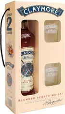 Акция на Виски Claymore 0.7 л 40% + 2 стакана (4820196540120) от Rozetka