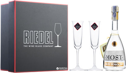 Акция на Граппа Bepi Tosolini Most Uve Miste + 2 Riedel Crystal Glasses Ciliegio/Cherry Barrique 0.7 л 40% (8007756385308) от Rozetka