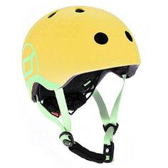 Акция на Шлем защитный детский Scoot and Ride, лимон, с фонариком, 45-51см (XXS/XS) (SR-181206-LEMON) от Allo UA