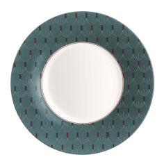 Акция на Тарелка суповая 23 см Zadig Blue Luminarc P0370 от Podushka