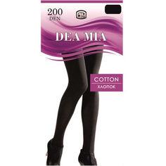 Акция на Колготки женские 200 Den Cotton Dea Mia 1462 nero 2 от Podushka