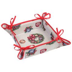 Акция на Хлебница гобеленовая новогодняя LiMaSo Звездопад игрушек от Podushka