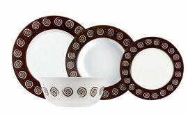 Акция на Сервиз столовый Luminarc Sirocco Brown 19 предметов N4867 от Podushka