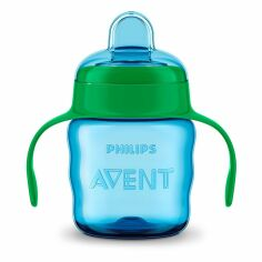 Акция на Чашка непроливайка Philips Avent голубая 200 мл SCF551/05 ТМ: Philips Avent от Antoshka