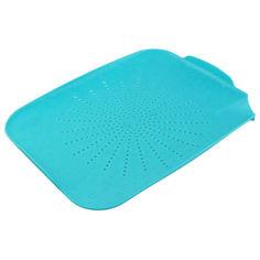 Акция на Пластиковый коврик-дуршлаг для раковины Supretto, Голубой (Арт. 4898-1) от Allo UA
