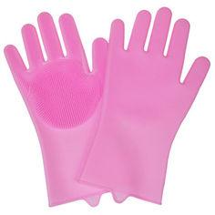 """Акция на Силиконовые перчатки для мытья посуды """"Нежные ручки"""", Розовый (Арт. 5594-1) от Allo UA"""