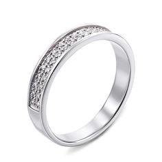 Акция на Кольцо из белого золота с бриллиантами 000124901 17 размера от Zlato