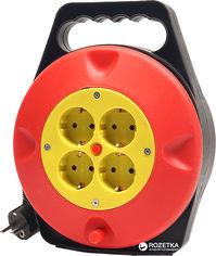 Акция на Удлинитель на катушке PowerPlant 10 м 4 розетки (PPRA10M100S4) от Rozetka