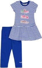 Костюм (платье + лосины) Wanex WNX TK 2 - 21191 86 см Белый с синим (ROZ6205089035) от Rozetka