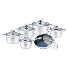 Акция на Набор посуды из 12 предметов Bollire. BR-4006 Salerno от Allo UA
