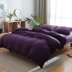 Акция на Комплект постельного белья Еней-Плюс Евро МІ0023 фиолетовый от Allo UA