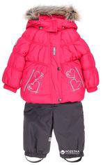 Акция на Зимний комплект (куртка + полукомбинезон) Lenne Hearty 18316/381 74 см Малиново-серый (4741578253400) от Rozetka