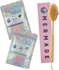 Акция на Набор Mermade Щетка для сухого массажа + Скрабы для тела Coco Jambo и Espresso 100 г (2000000223339) от Rozetka
