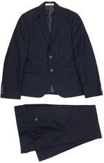 Акция на Костюм (пиджак + брюки) Новая форма 09.1b Mark 142 см 32 р Синий (2000067003691) от Rozetka