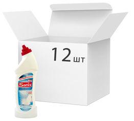 Акция на Упаковка геля для мытья унитазов Sanix WC Gel Морская свежесть отбеливающий 750 мл х 12 шт (4820167003357) от Rozetka
