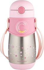 Акция на Термо-бидончик Canpol babies с силиконовой трубочкой 300 мл Розовый (74/054_pin) от Rozetka