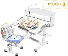 Акция на Комплект Evo-Kids BD-10 G Стул + стол + полка + лампа (BD-10 G с лампой) от Rozetka