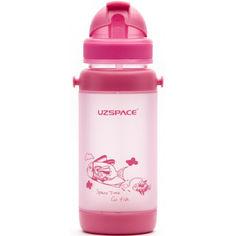 Акция на Бутылочка - поильник с трубочкой UZspace 3039 baby 320 мл, розовая от Allo UA
