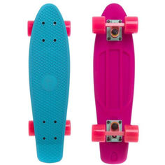 Акция на Пенни Борд Penny Board Fish Skateboards Матовый Голубой Розовый 57 см (FSTT10) от Allo UA