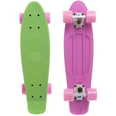 Акция на Пенни Борд Penny Board Fish Skateboards Матовый Салатовый Розовый 57 см (FSTT7) от Allo UA