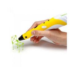 Акция на 3D ручка горячая ручка Smart 3D Pen 2 Yellow от Allo UA