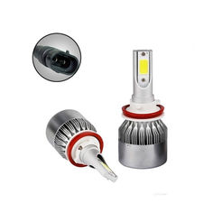 Акция на Лампы светодиодные автомобильные C6 H11 H9 H8 PGJ19-2 12В 72Вт 7600лм от Allo UA
