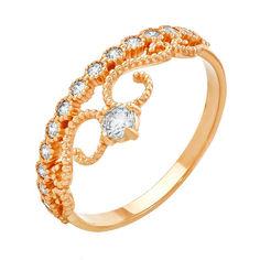Акция на Кольцо-корона из красного золота с кристаллами Swarovski 000036789 000036789 16.5 размера от Zlato