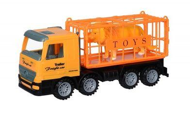 Акция на Машинка инерционная Same Toy Super Combination Грузовик для перевозки животных желтый (98-83Ut) от MOYO