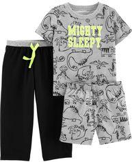 Пижама (футболка + штаны) Carters 15970610 18M Серая с черным (192135504505) от Rozetka