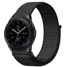 Акция на Ремешок BeWatch нейлоновый липучка для Samsung Galaxy Watch 46 мм Черный (1021301.1) от Allo UA
