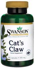 Акция на Swanson, Cat's Claw 500 mg 100 caps (SWA-01514) от Stylus