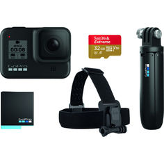 Акция на GoPro Hero 8 Black Holiday Bundle (CHDRB-801) от Allo UA