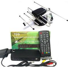 Акция на Комплект Т2 с тюнером Т23 (эфирный Т2 приемник Т23 с фунциями медиаплеера и IPTV/WebTV-плеера + Антенна для Т2 Комнатная Волна-2) от Allo UA