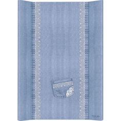 Акция на Пеленальная доска Cebababy 50x70 Denim Style W-200-119-600, Lace, голубой от Allo UA