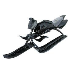 Акция на Снегоход-мотоцикл с ножным тормозом и кожаным сидением для детей от 3-х лет Спорт Люкс черный 126х50х39 см от Allo UA