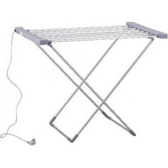 Акция на Электрическая сушилка для одежды с подогревом прутьев GRANT GT 505 электросушилка напольная проводная струнная 120Вт раскладная сушка белья - Серая от Allo UA