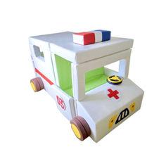 Акция на Мягкий Игровой модуль-трансформер Скорая помощь для детей от 1 года для дома, детских садов 165х100х110 см от Allo UA