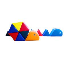 Акция на Мягкий игровой Модуль-трансформер Улитка для детей от 1 года для дома, игровых центров и садов 245х25х54 см от Allo UA