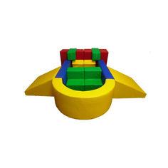 Акция на Мягкий Игровой модуль-трансформер Звездолет для детей от 1 года для дома, игровых центров, детсадов, 13 элем. от Allo UA