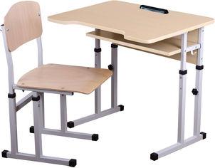 Акция на Комплект Сектор Нежность Парта + стул (Нежность) от Rozetka
