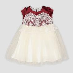 Акция на Платье Sasha 4423/1 92 см Бордовое с молочным (ROZ6400049939) от Rozetka