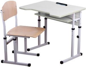 Акция на Комплект Сектор Проза Парта + стул (Проза) от Rozetka