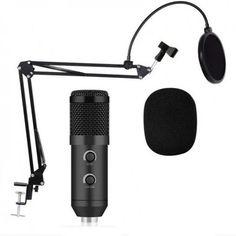 Акция на Микрофон студийный металлический XPRO Studio MIC со стойкой и ветрозащитой от Allo UA