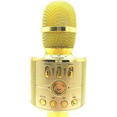 Акция на Беспроводной караоке микрофон с колонкой WSTER WS-868 Gold от Allo UA