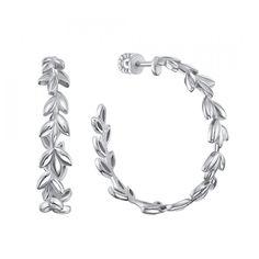 Акция на Серебряные серьги-кольца, 28мм 000132788 от Zlato
